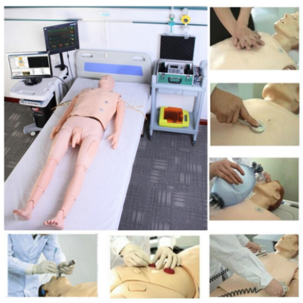 NM2102 高智能数字网络化ICU(综合)护理技能训练系统(学生机