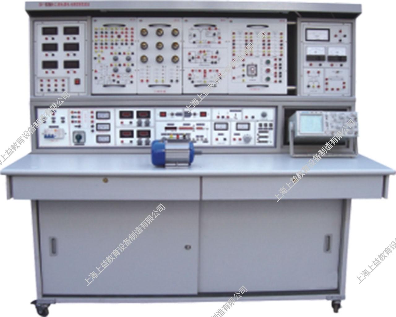 SYGL-528E立式电工、模电、数电、电气控制、PLC可编程控制综合实验装置(含PLC实验)