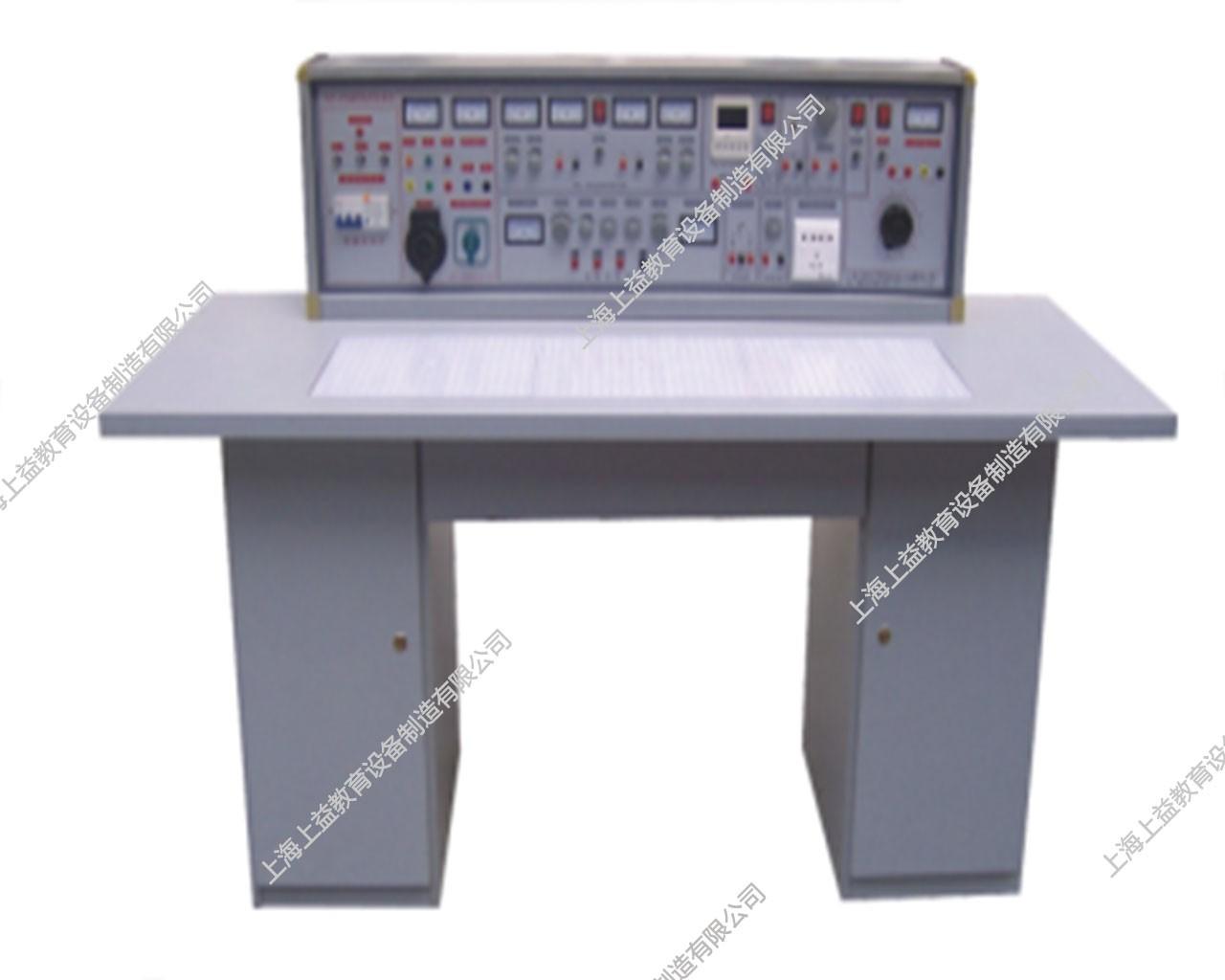 SYBK-535E电工、模电、数电、电气控制(带直流电机)五合一综合实验室成套设备(带智能型功率表、功率因数表)