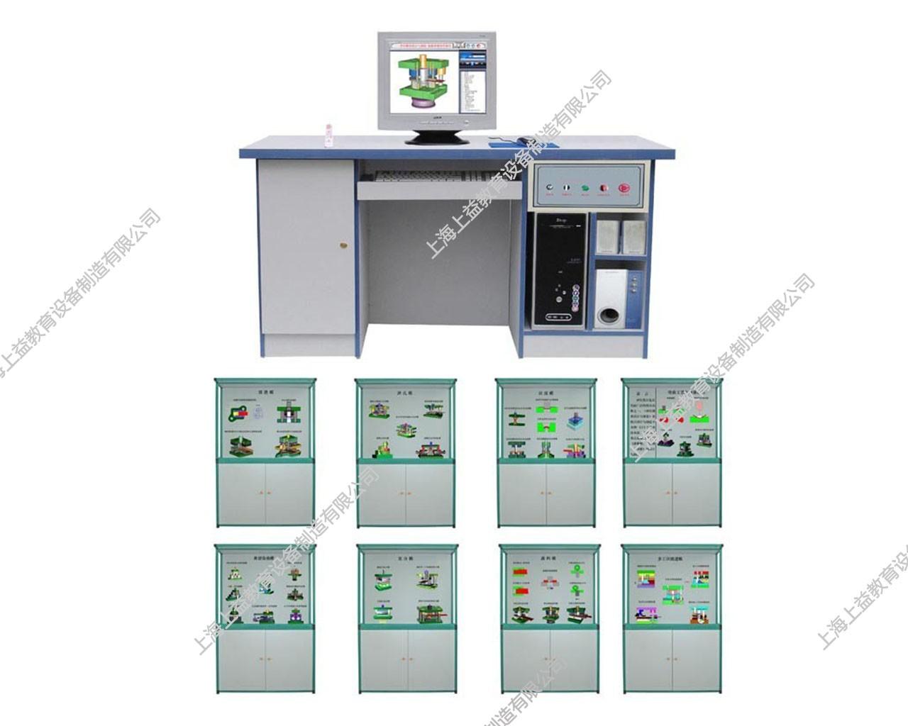 SYGLG-103 多媒体智能控制《塑料磨具设计与制造》陈列柜