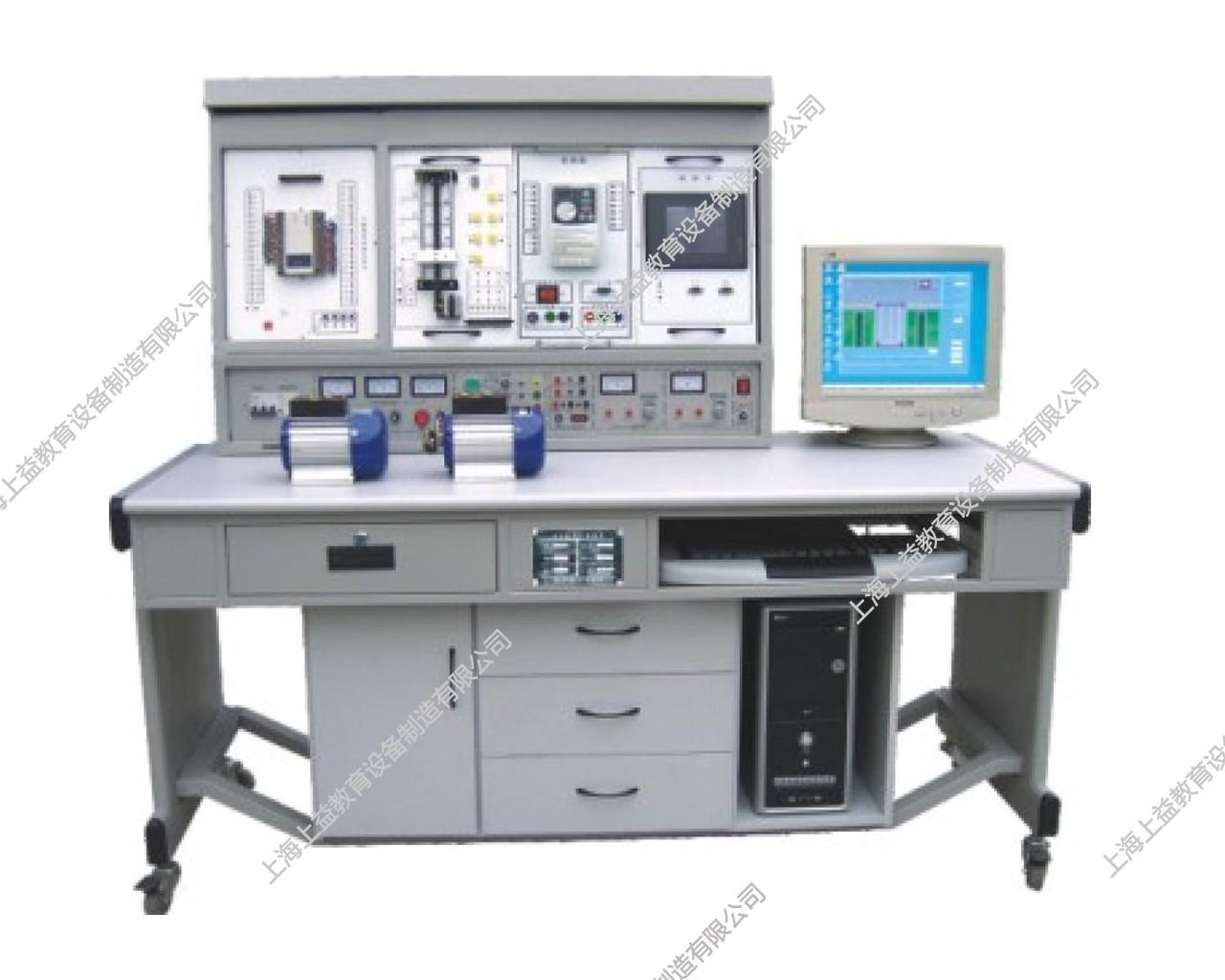 SYPLC-104B网络型PLC可编程控制器/变频调速/电气控制及单片机综合实验装置(PLC、变频器、触摸屏、电气控制、单片机)