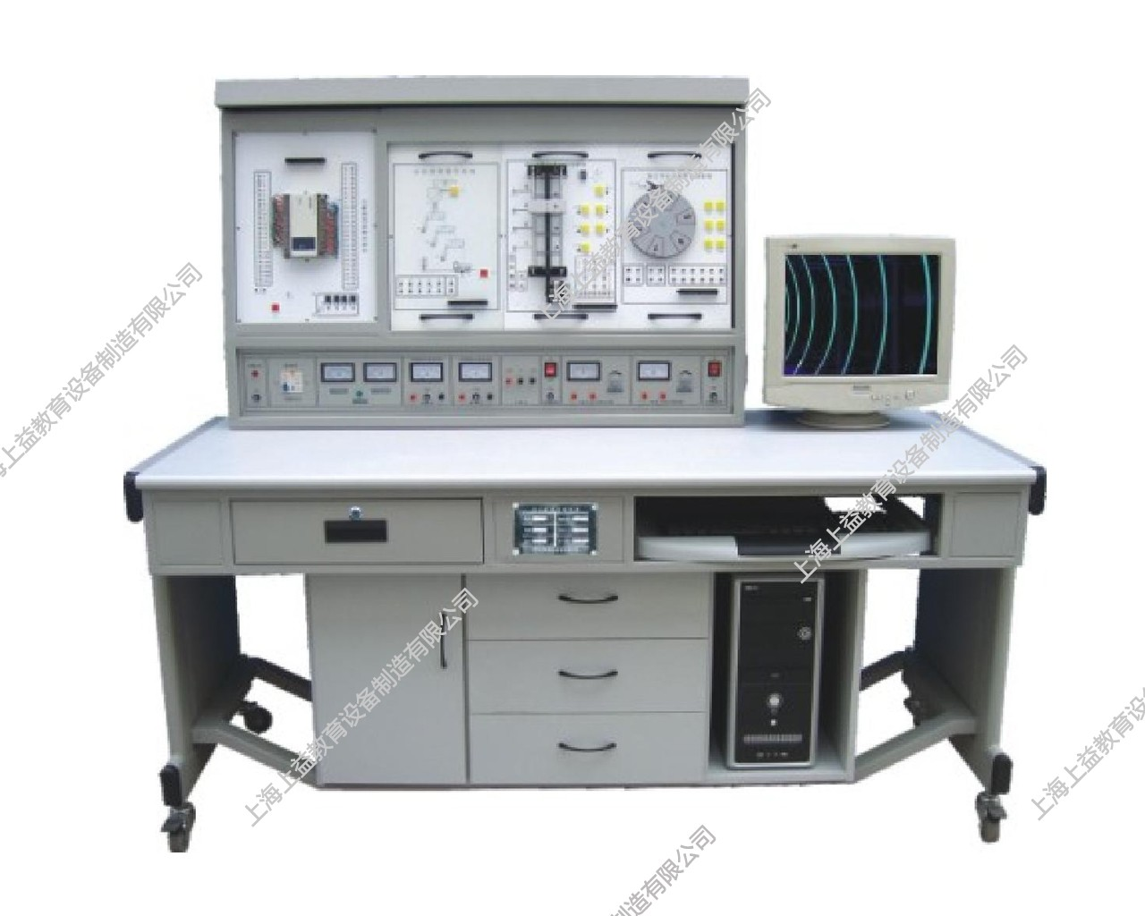 SYPLC-102APLC可编程控制器实验装置(立式、挂箱积木式)