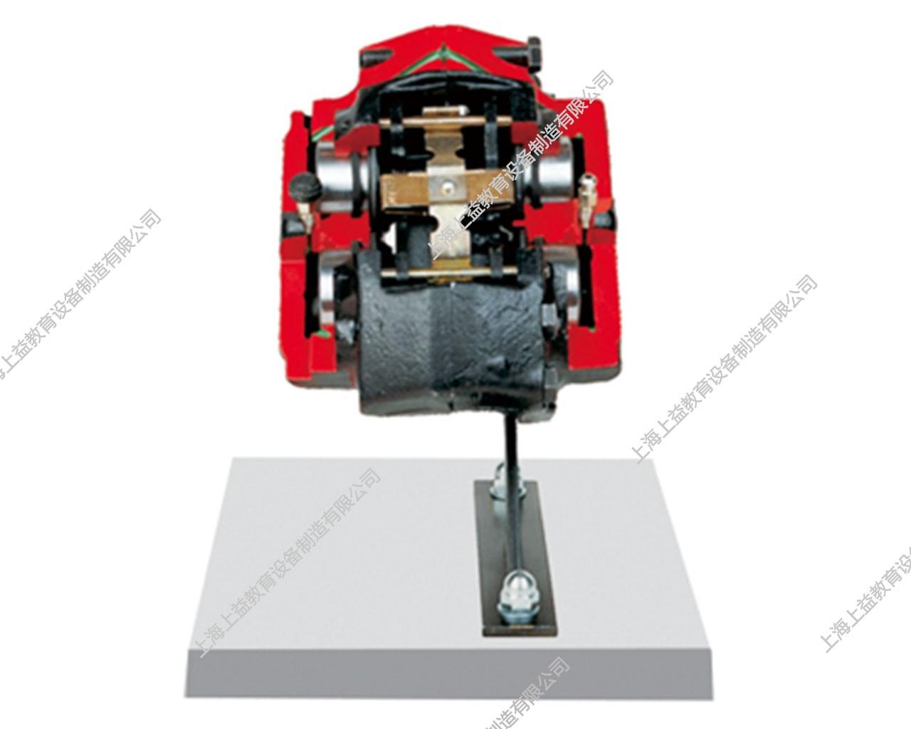 固定钳盘式制动器解剖模型,带四个活塞