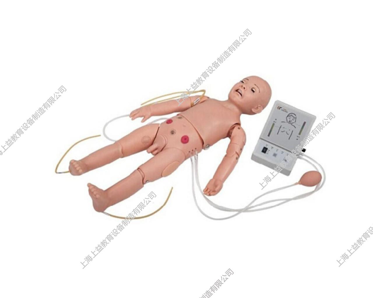 PD5134 全功能一岁儿童高级标准化模拟病人(护理、CPR、听诊、除颤起博、心电监护五合一)